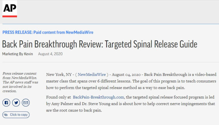 backpain breakthrough news feature